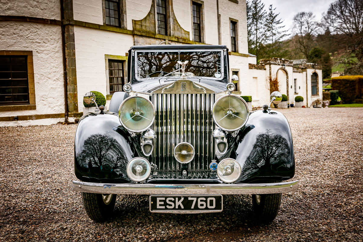 Pitcairlie House Wedding Rolls Royce