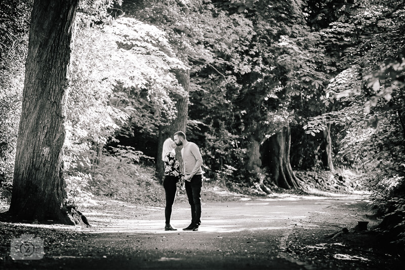 Woodland engagement photoshoot